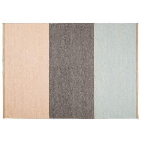 Design House Stockholm Fields Matto 170x240 cm Vaaleanpunainen-Ruskea-Sininen