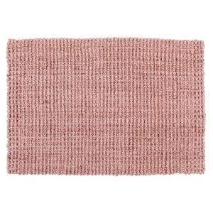 Dixie Jute Kynnysmatto Soft Pink 90x60 Cm