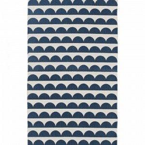 Ellos Joanna Puuvillamatto Sininen 70x250 Cm
