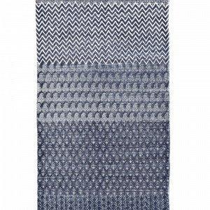 Ellos Malin Puuvillamatto Sininen 70x200 Cm
