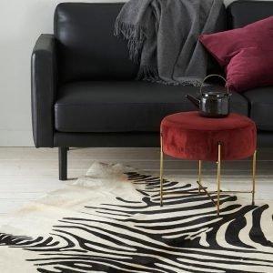 Ellos Seeprakuvioinen Lehmäntalja Musta 200x220 Cm