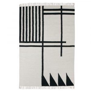 Ferm Living Kelim Black Lines Matto 200x140 Cm