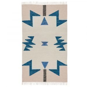Ferm Living Kelim Blue Triangle Matto 140x80 Cm