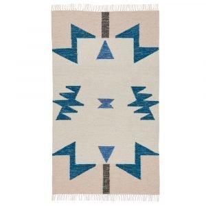 Ferm Living Kelim Blue Triangle Matto 140x80 Cm