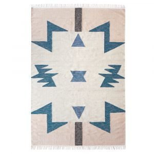 Ferm Living Kelim Blue Triangle Matto 200x140 Cm