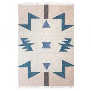Ferm Living Kelim Blue Triangle Matto 200x140 Cm