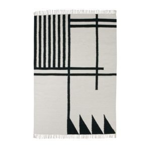 Ferm Living Kelim Matto Black Lines L