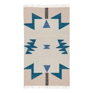 Ferm Living Kelim Matto Blue Triangles S
