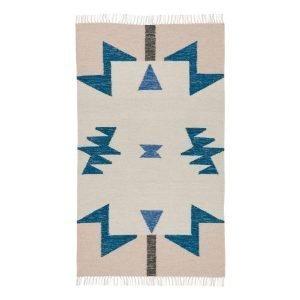 Ferm Living Kelim Matto Blue Triangles S