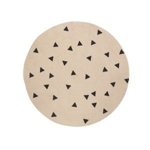 Ferm Living Kids Jute Matto Black Triangles S