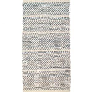 Finarte Mervi Pesonen: Usva Puuvillamatto Sininen 80x150 Cm