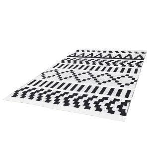 Forme Pikseli Puuvillamatto Musta / Valkoinen 80x250 Cm