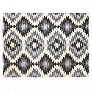 Hemtex Douglas Puuvillamatto Musta 120x160 Cm
