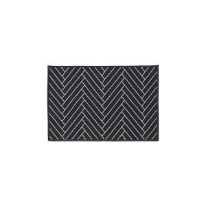 House Doctor Herringbone Ovimatto Musta / Vaaleanharmaa 60x90 Cm
