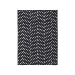 House Doctor Herringbone Ovimatto Musta / Vaaleanharmaa 90x120 Cm