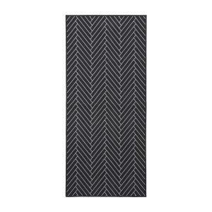House Doctor Herringbone Ovimatto Musta / Vaaleanharmaa 90x200 Cm