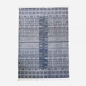 House Doctor Julia Matto Musta / Valkoinen 180x180 Cm