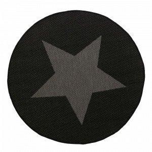 Jotex Stjärna Bukleematto Musta Ø 200 Cm
