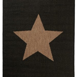 Jotex Stjärna Bukleematto Musta 133x190 Cm