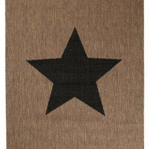 Jotex Stjärna Bukleematto Ruskea 133x190 Cm