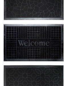 KJ Collection Ovimatto Gummi Musta 75x45 cm