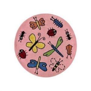 Kateha Bugs Matto Vaaleanpunainen