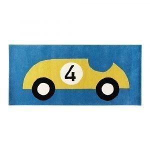 Kateha Rally Matto Blue / Gold 80x160 Cm