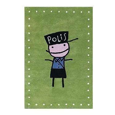 Kateha Tiny Matto Vihreä Poliisi