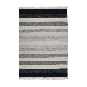 Kateha Tofta Wave Matto Black / White 170x240 Cm