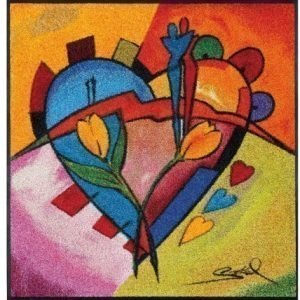 Kleen-Tex Matto Balanced Love Ii 85x85 Cm