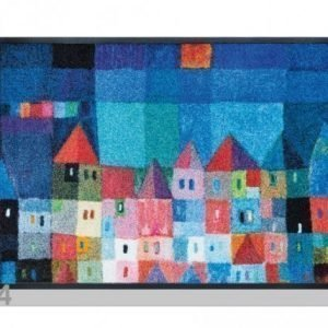 Kleen-Tex Matto Colourful Houses 50x75 Cm