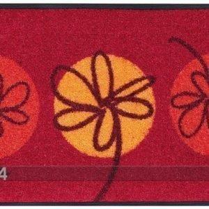 Kleen-Tex Matto Fleurette Rouge 40x60 Cm