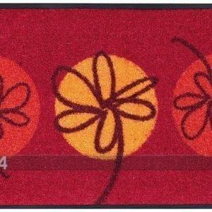 Kleen-Tex Matto Fleurette Rouge 50x75 Cm
