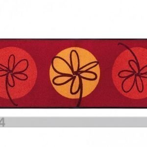 Kleen-Tex Matto Fleurette Rouge 60x180 Cm