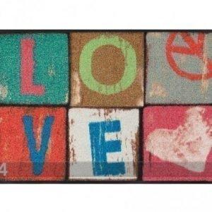 Kleen-Tex Matto Love Letters 50x75 Cm