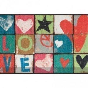 Kleen-Tex Matto Love Letters 75x120 Cm