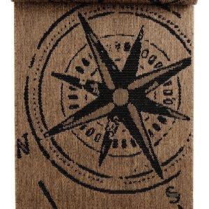 Kompass Bukleematto 80x250 Cm Ruskea / Musta