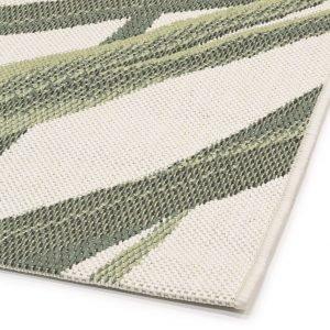 Koodi Leaf Yleismatto Valkoinen Vihreä 160x160 Cm