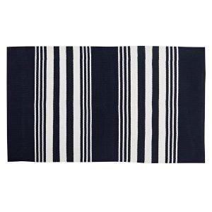 Lexington Striped Matto Sininen / Valkoinen 70x130 Cm