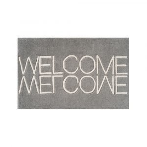 Linie Design Welcome Ovimatto Harmaa 50x80 Cm