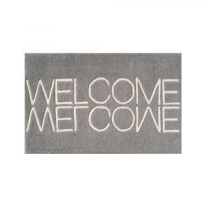 Linie Design Welcome Ovimatto Harmaa 50x80 Cm