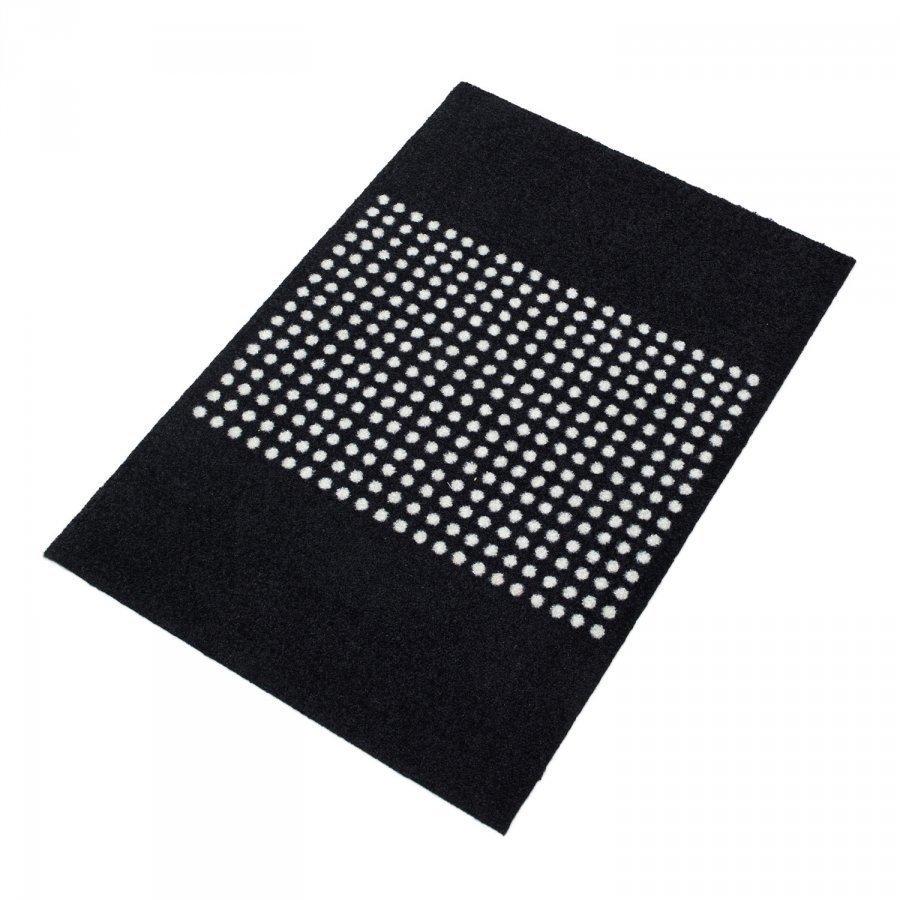 Mette Ditmer Dots Ovimatto 55x80 Cm Musta/Valkoinen