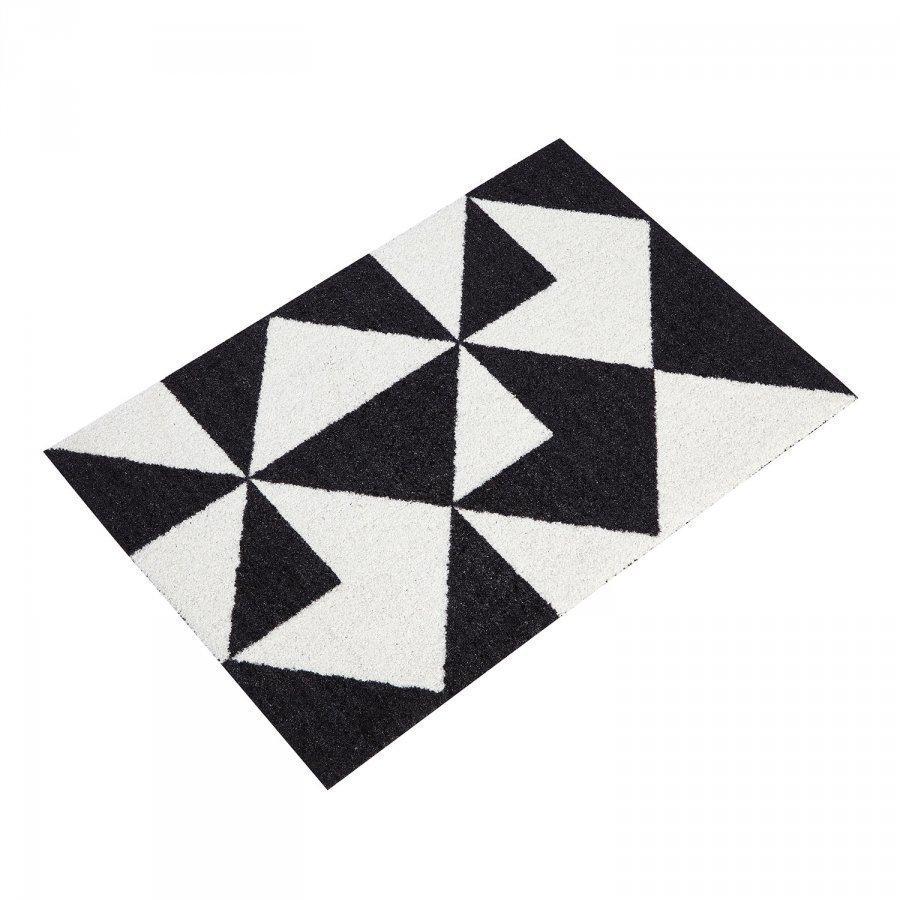 Mette Ditmer Graphic Ovimatto 55x80 Cm Musta/Valkoinen
