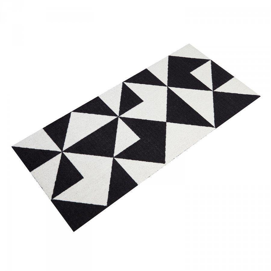 Mette Ditmer Graphic Ovimatto 70x150 Cm Musta/Valkoinen
