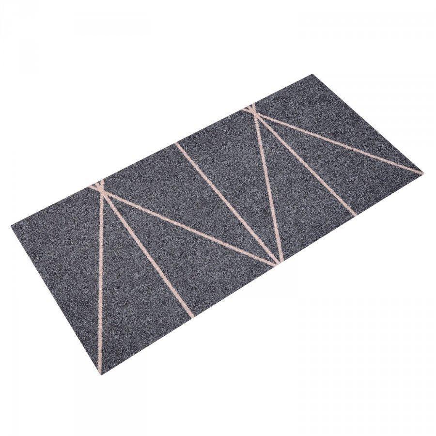 Mette Ditmer Triangle Ovimatto 70x150 Cm Harmaa/Nude