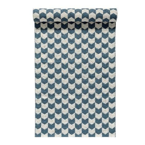 Nordic Nest Knit Matto Dusty Blue Sininen 70x300 cm