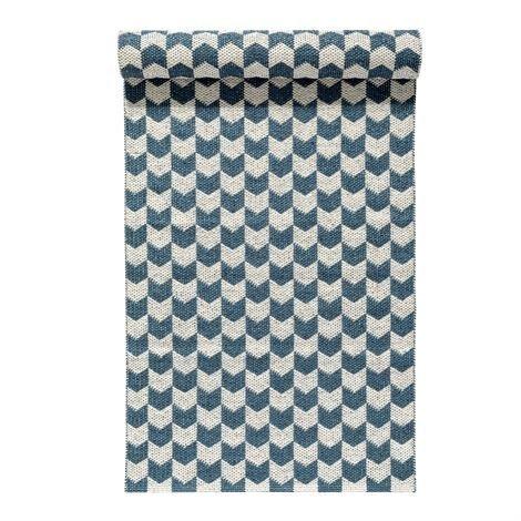 Nordic Nest Knit Matto Dusty Blue Sininen 70x300 cm