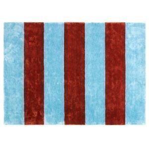 Normann Copenhagen Pavilion Matto Powder Blue / Rust 200x280 Cm