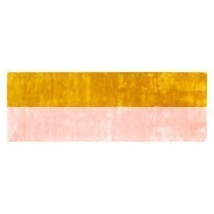 Normann Copenhagen Pavilion Matto Yellow / Light Pink 80x240 Cm