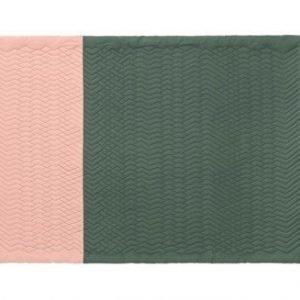 Normann Copenhagen Trace matto Rosa/Tummanvihreä